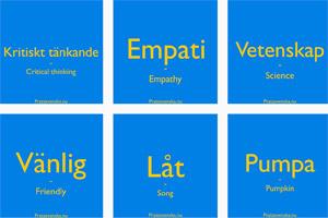 Some of Prata Svenska's free flashcards