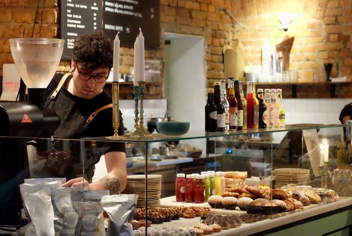 Eating brunch at Café Pascal in Stockholm