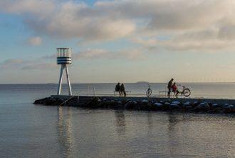 Bellevue Strand is a great beach you can reach by bike from Copenhagen