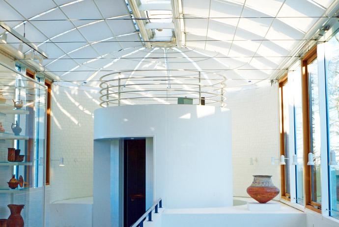 Inside Louisiana Art Museum near Copenhagen