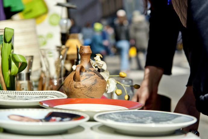 Birkelunden's bric-a-brac market