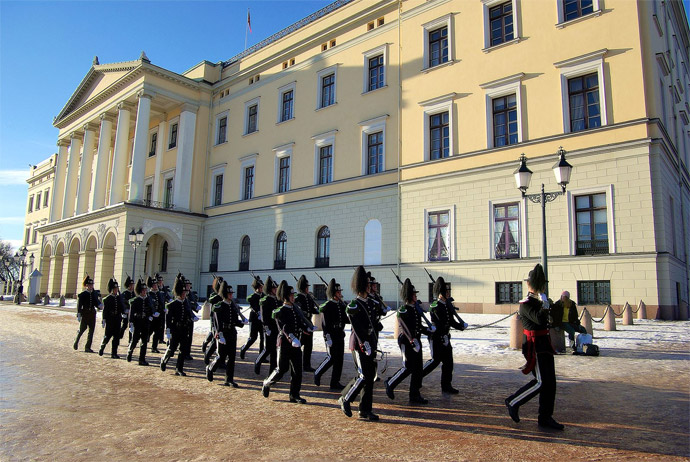 It's free to watch the changing of the guard ceremony in Oslo