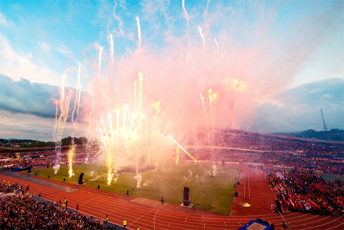 The Gothia Cup football tournament in Gothenburg, Sweden
