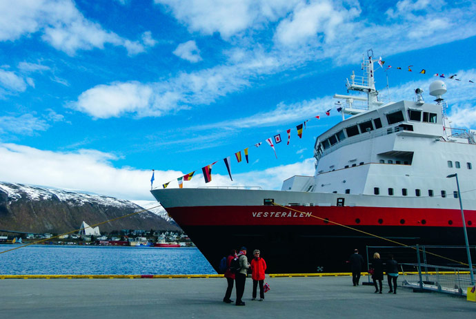 Hurtigruten boat in Tromso, Norway