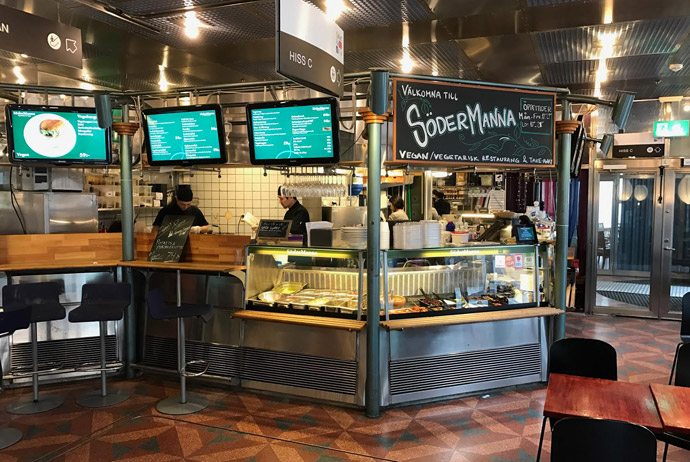 Cheap veggie food is available at Södermanna in Sweden's capital city