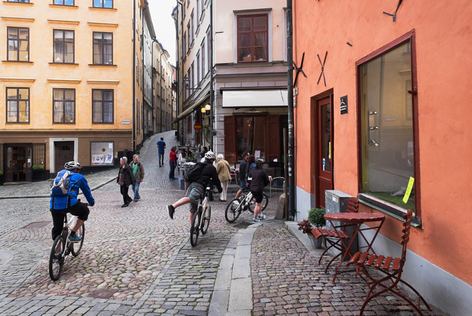 Bike tour of Stockholm