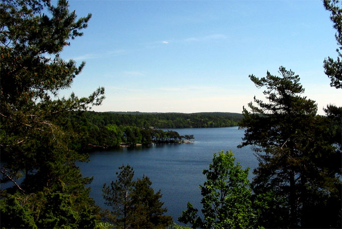 Delsjön is a great lake near Gothenburg