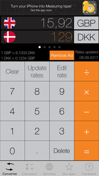 One of the best currency apps for a trip to Denmark