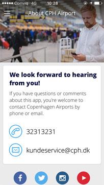 Copenhagen airport app