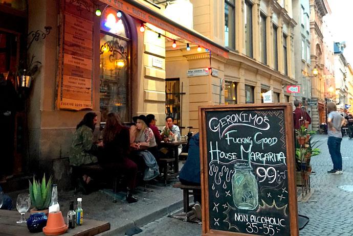 Geronimos cocktail bar in Stockholm