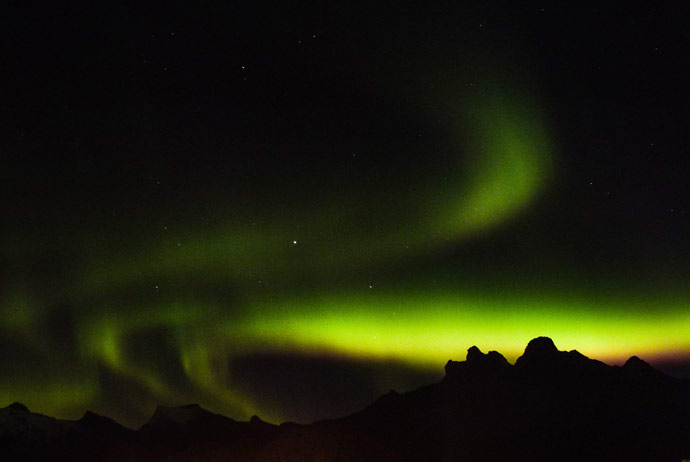 Seeing the northern lights in Lofoten, Norway