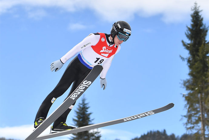 Nordic combined skiing championship in Lillehammer, Norway
