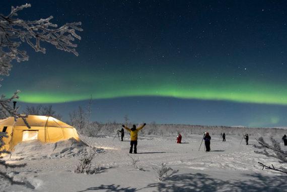 Northern lights tour in Sweden