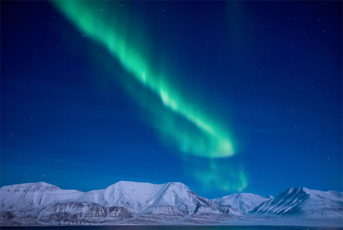Svalbard has great opportunities for aurora watching