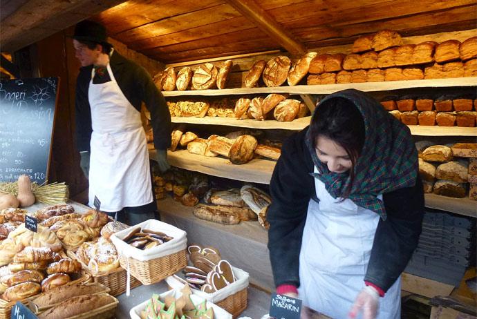 Festive market in Stockholm, Sweden