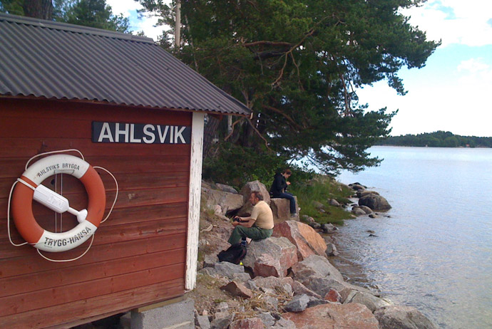 Svartsö is a good island to visit near Stockholm