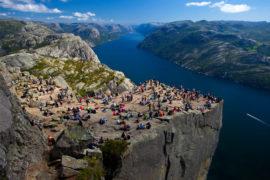 Lysefjord and Preikestolen in Stavanger, Norway