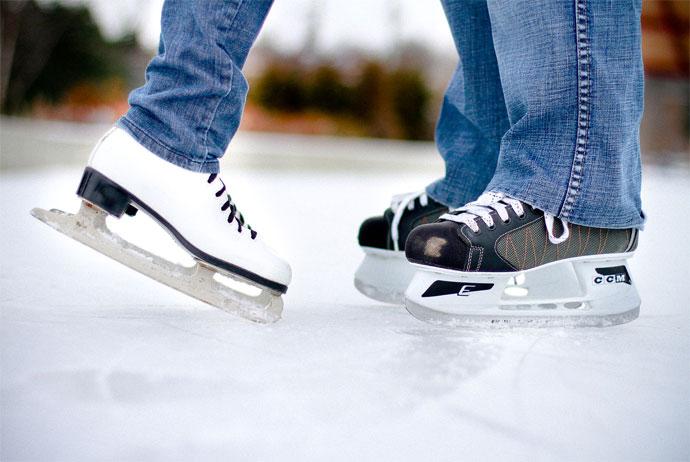 Ice skating in Södermalm, Stockholm