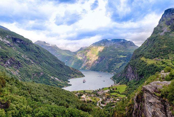 Geirangerfjord is one of the best fjords in Norway