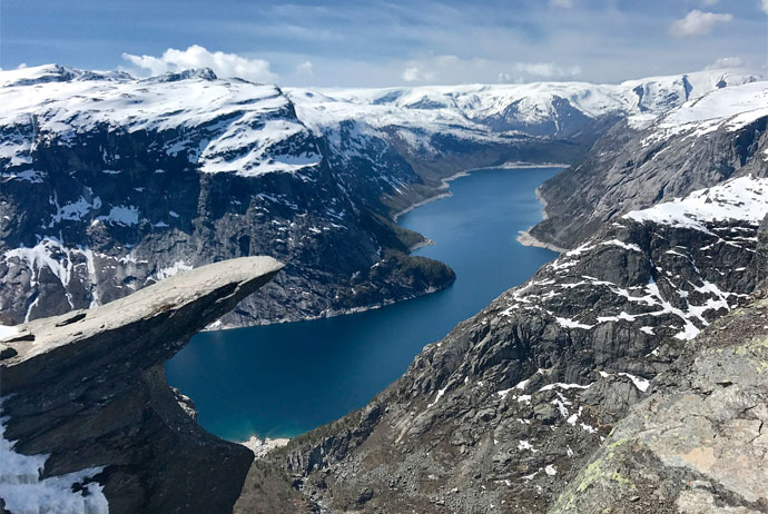 Hardangerfjord is one of Norway's best fjords to visit, and is home to Trolltunga