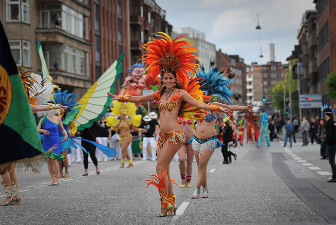 Aalborg carnival takes place in the summer