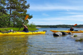 A one-day kayaking tour of the Stockholm Archipelago