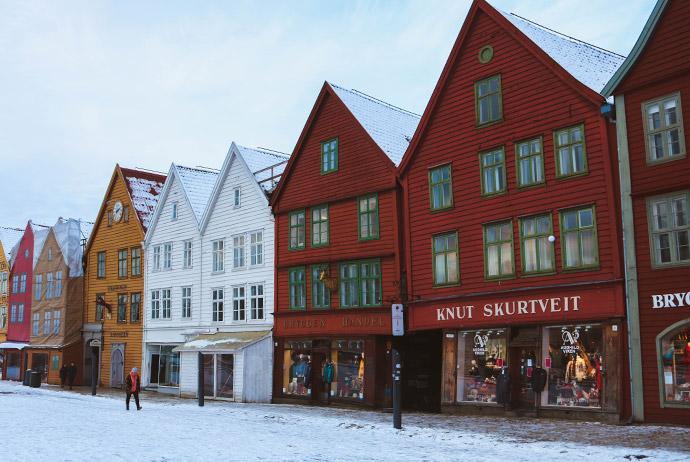 Bergen wharf area, Bryggen
