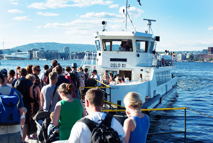 Taking a ferry in Oslo is easy!