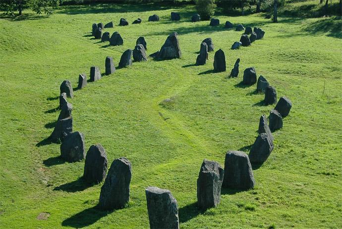Anundshög burial site in Vasteras, Sweden