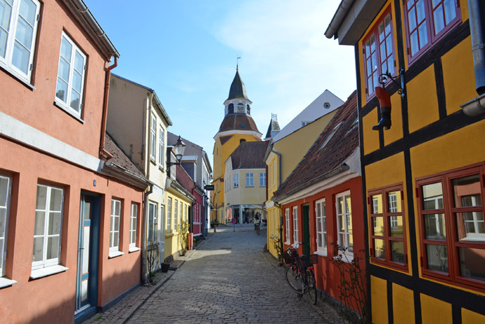 Faaborg is Fyn's most idyllic coastal town