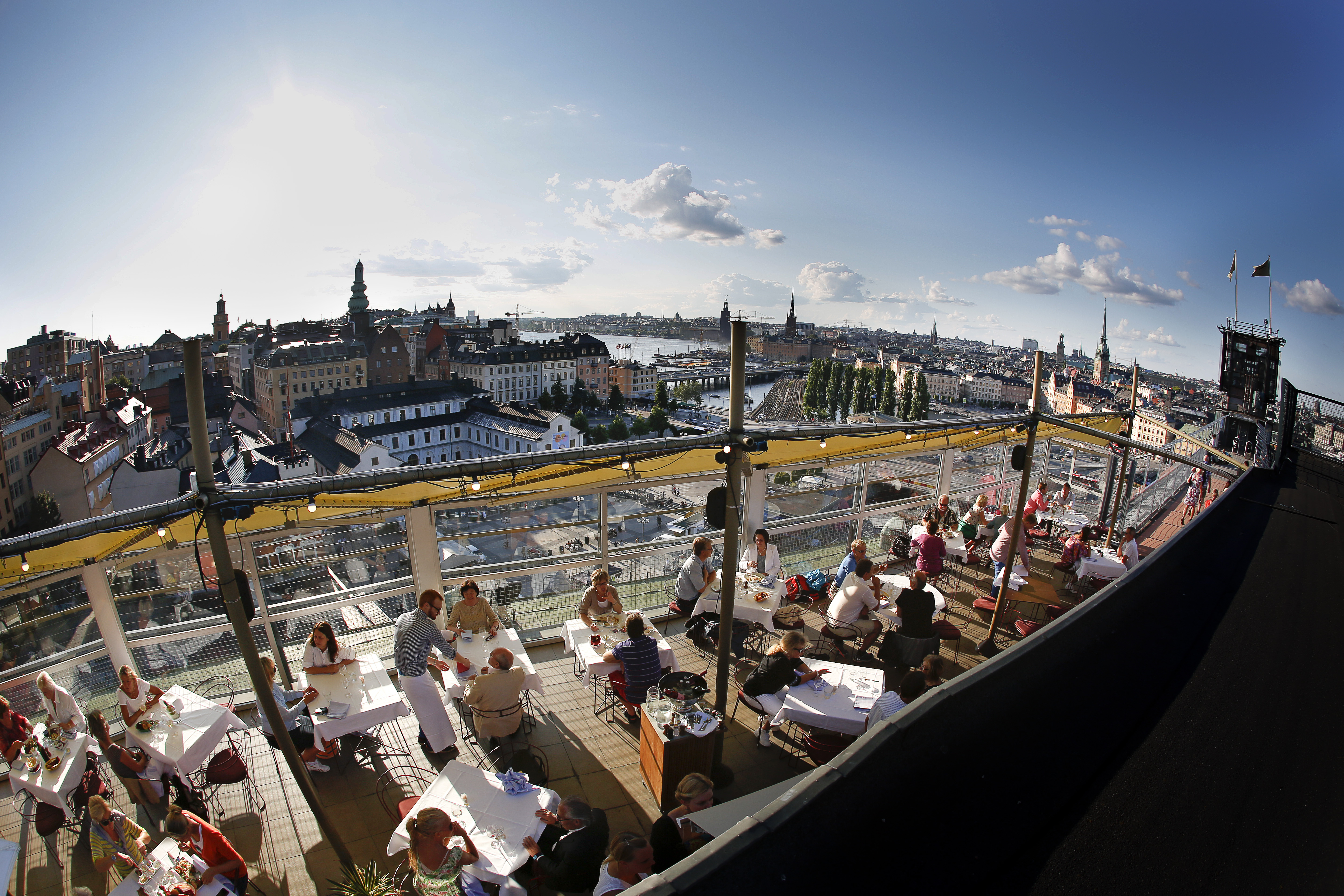 Gondolen is one of the best and most famous rooftop bars in Stockholm