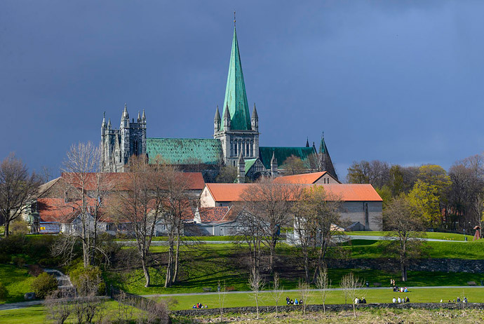 Nidaros Cathedral is one of the top budget sights in Trondheim