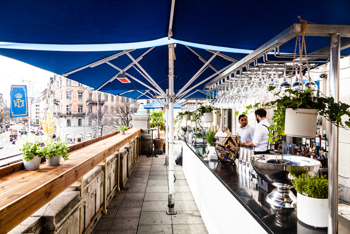 Dramatenterrassen is a nice terrace bar in Stockholm