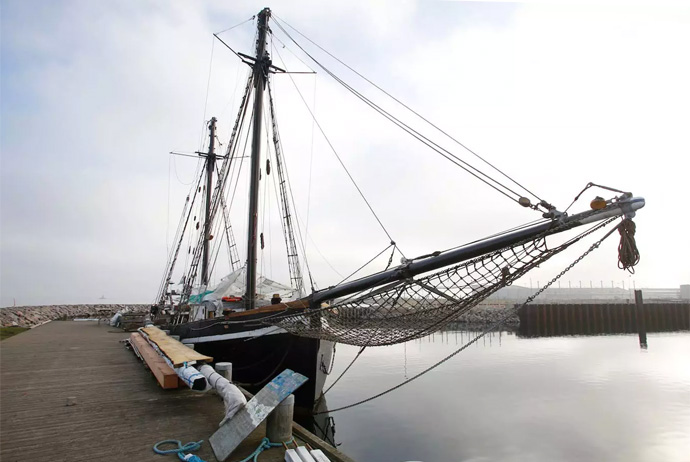 This sailing boat near Copenhagen Airport is up on Airbnb