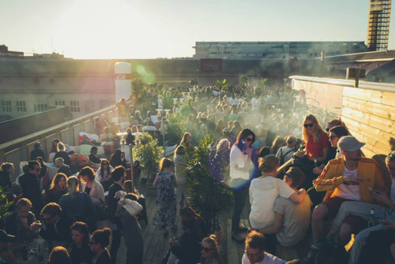 The rooftop bar at Slakthuset is a great summer hangout!