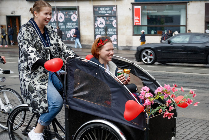 Renting a Christiania bike in Copenhagen