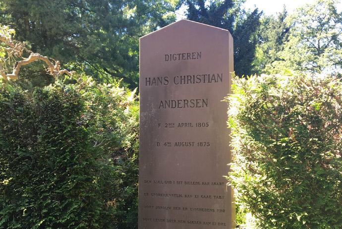 Hans Christian Andersen's grave in Copenhagen