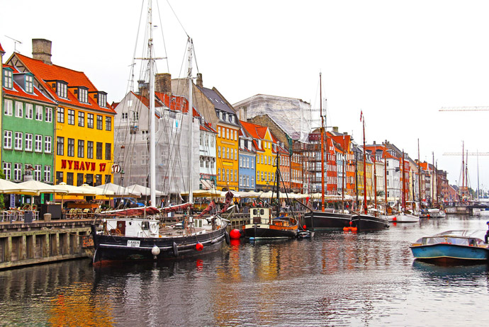 Hans Christian Andersen once lived in Nyhavn, Copenhagen