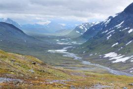 The Kungsleden hiking trail in northern Sweden