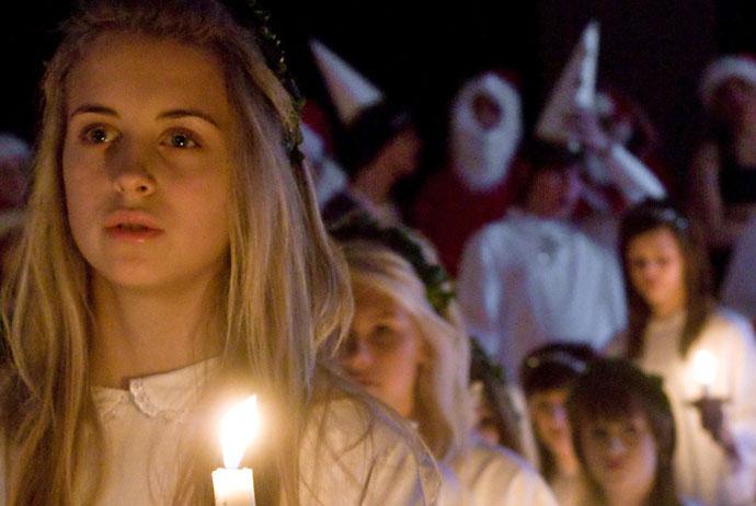 Lucia celebrations in Stockholm, Sweden