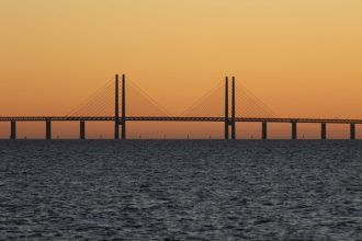 The bridge between Copenhagen and Malmö