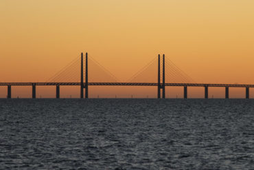 The bridge between Copenhagen and Malmö