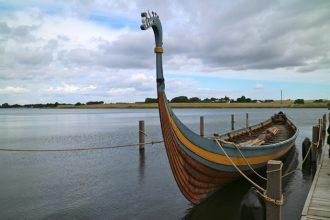 The Viking boat museum in Ladby, Denmark