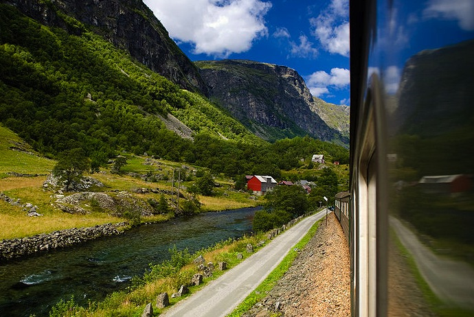 The Flamsbana railway, Norway