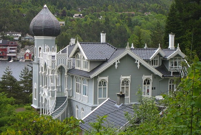 Ole Bull's villa on the island of Lysøen, Bergen