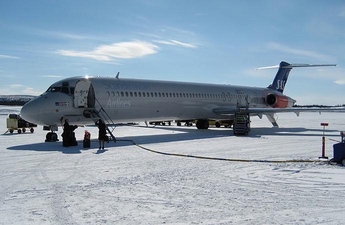 Plane at Kiruna airport
