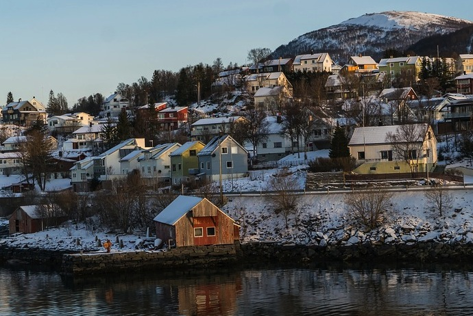 Tromso houses, Norway