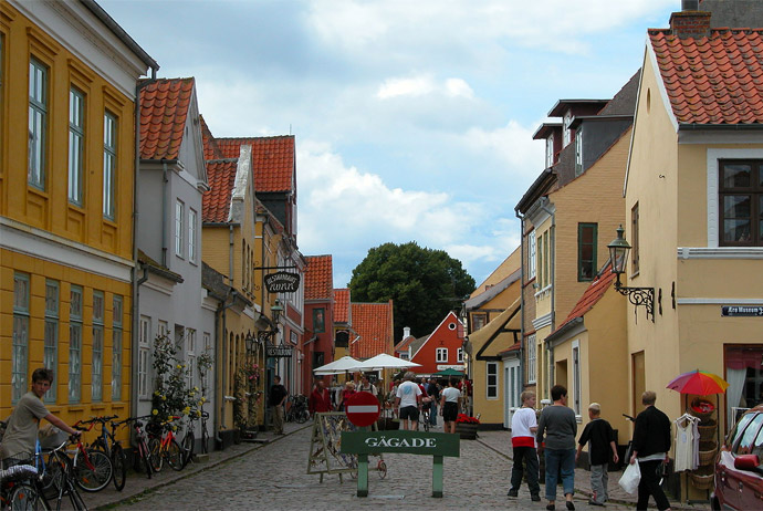 The pretty streets of Ærøskøbing
