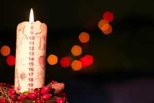 Danes often celebrate advent with a Christmas candle