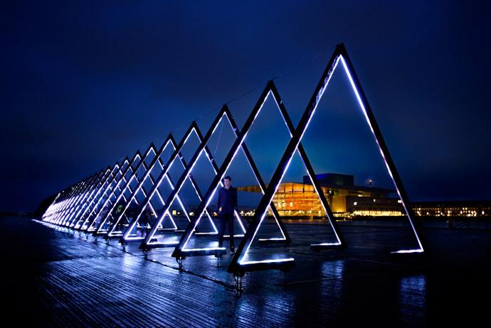 The annual light festival in Copenhagen